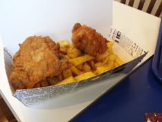 Chicken and chips #Southbank