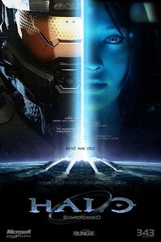 Halo - Masterchief & Cortana (Halo Masterchief/Cortana Fan Art: Starcrossed by on deviantART) Camilla Luddington Tomb Raider, Cortana Halo, Master Chief And Cortana, Halo Master Chief, Halo Game, Halo 3, Video Game Art, Video Games, Xbox 360