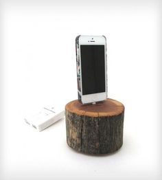 Cedar Stump iPhone 5 Docking Station | iPhone iPhone 5 | Dock Artisan | Scoutmob Shoppe | Product Detail