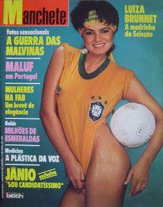 Blog que virou manchete - Panis Cum Ovum: Luiza Brunet, 50 anos, 32 capas de Manchete