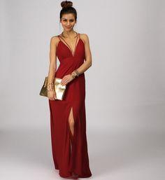 Burgundy Hey Good Looking Maxi Dress