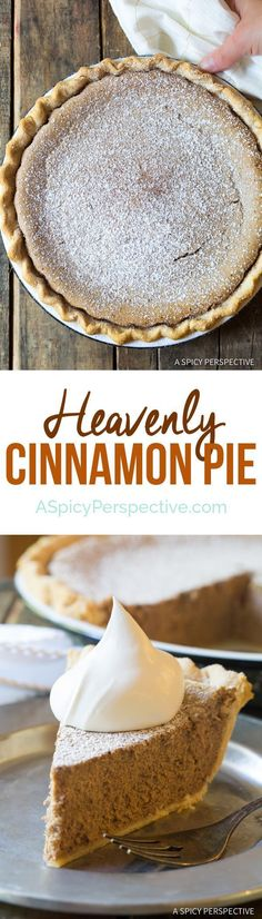 The Perfect Cinnamon Pie Recipe | http://ASpicyPerspective.com