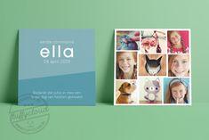 Communiekaart Collage - FluffyCloud Geboortekaartjes