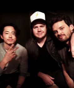 Steven Yeun, Josh McDermitt & Austin Nichols