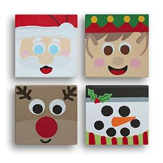 christmas paintings on canvas Christmas Crafts For Kids, Christmas Activities, Christmas Projects, Winter Christmas, Holiday Crafts, Holiday Fun, Christmas Holidays, Christmas Gifts, Christmas Decorations