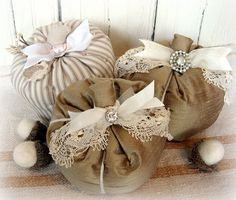 heirloom collection pumpkins and felted acorns