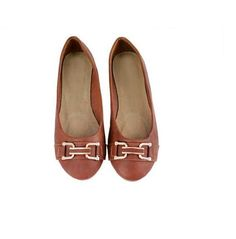 Flat Dolly Pumps Womens Ladies Girls Ballerina Ballet Shoes Slipons Brown Buckle