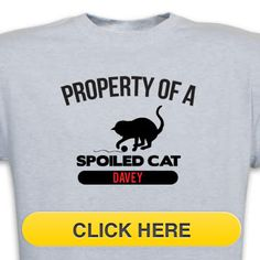 Check our Property of Spoiled Cat T-Shirt to celebrate you #pet #animal#dog love. Just $18.99 + an extra $5off Just Enter Coupon Code: SAVEMORE5 at checkout at http://www.petproductadvisor.com/store/mc/property-spoiled-cat-tshirt.aspx