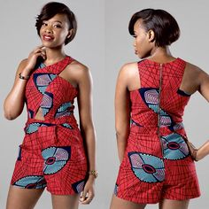 Make an entrance this season in our ultra-flattering African print romper. bold African fabric 100% cotton; no stretch; true to size Side zip closure with two side pockets Handmade in the UK Model is 55 tall and wears a SMALL / UK 8 / USA 4 / EU 36 GIFT OPTIONS Gift wrapping is available