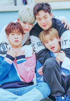 M, Jooheon, Shownu, and Hyungwon. Hyungwon, Kihyun, Monsta X Shownu, K Pop, Kaisoo, Got7, Rapper, Jimin, Im Changkyun