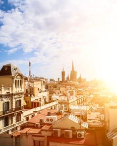 Where to stay in Barcelona: Spain is always a good idea. The beautiful view over Barcelona from the top terrace of Ohla Barcelona hotel