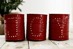 DIY: JOY holiday tin luminaries
