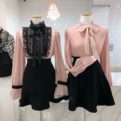 Korean Fashion – How to Dress up Korean Style – Designer Fashion Tips Girly Outfits, Pretty Outfits, Dress Outfits, Dress Up, Cute Outfits, Kawaii Fashion, Cute Fashion, Girl Fashion, Fashion Outfits