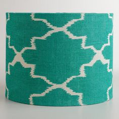 One of my favorite discoveries at WorldMarket.com: Turquoise Gate Drum Table Lamp Shade $24.99 for shade