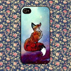 Fox Space for iPhone 4, iPhone 4s, iPhone 5 /5s/5c, Samsung Galaxy S3, Samsung Galaxy S4 Case