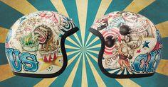 dmd vintage moto helmet #circus for sale on bluebellstore.com/en/vintage-dmd-helmet-circus