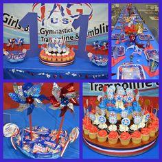 Gymnastics Party Ideas | via mrsbpop