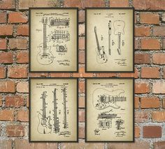 Hey, I found this really awesome Etsy listing at https://www.etsy.com/listing/199814199/guitar-patent-prints-musician-wall-art