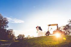 Gainsborough Greens Golf Course Wedding Photographer Golf Cart Fun Photography Gold Coast Pimpama Wedding Anna Osetroff Photographer