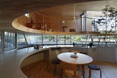 Keisuke Maeda of UID Architects has designed the Pit House in Tamano, Okayama, Japan.