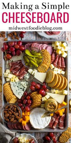 Making a Simple Cheese Board - How to Make a Simple Charcuterie Board You are in the right place about healthy recipes Here we off - Charcuterie Recipes, Charcuterie And Cheese Board, Charcuterie Platter, Cheese Boards, Meat Platter, Party Food Platters, Food Trays, Holiday Appetizers, Appetizer Recipes