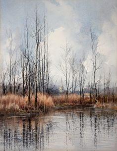 Cyril Boler British 1895 1978 1960 Watercolour Landscape | eBay