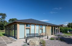 St Peters hospice (UK): Stunning roof with  CUPA 12 natural slate   #architecture #roofing #inspiration #slate