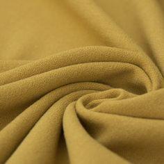 RIO Polyester Viscose CREPE Quality Plain Mustard// Olive Dressmaking Fabric