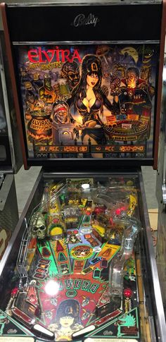 Carolina Gaming Company - Elvira Pinball Machine. #carolinagamingcompany
