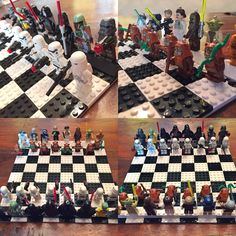 My son and I created our own Lego Star Wars chess set. #DIY #starwarschess #LEGO