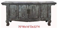 Chinese Antique Lacquer Lower Altar Table TV Stand Cabinet rustic-side-tables-and-accent-tables