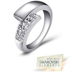 $19.99 - Mestige Cassandra Fashion Ring Made with Swarovski Elements