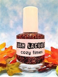 NEW--Cozy Times :  Custom-Blended Glitter Nail Polish / Lacquer. $8.75, via Etsy.