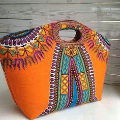 Ankara handbag @crwndelegance