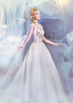 Alfred Angelo Disney Fairy Tale Weddings Bridal Collection 258 Elsa Wedding Dress The Knot Disney Wedding Dresses, Cinderella Dresses, Disney Dresses, Princess Wedding Dresses, Frozen Wedding Dress, Wedding Disney, Romantic Princess, Ball Dresses, Ball Gowns