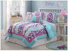 Aqua Leopard Print Comforter Set in a Bag Bedding Set Girls Teen Guest Room 2855 Girl Beds, Comforter Sets, Colorful Comforter, Bed, Bed In A Bag, Girls Bedroom, Leopard Bedding, Blue Girls Bedding, Comforters