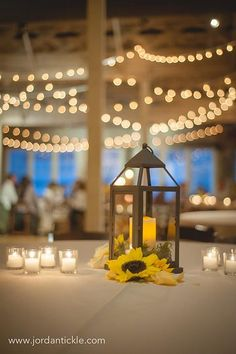 [Love The Sunflowers & Lanterns Together] Ben & Hannah-Tickle Photography www.thestockroomat230.com #thestockroom #thestockroomat230  #downtownraleigh #weddingvenue  #reception #raleighweddingvenue