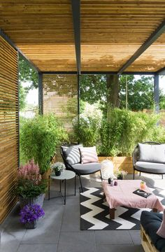 Terrasse Lounge selberbauen Covered Patio Designs - What Options Do You Have? Small Outdoor Patios, Outdoor Pergola, Outdoor Rooms, Outdoor Living, Outdoor Decor, Diy Pergola, Pergola Ideas, Outdoor Balcony, Pergola Lighting