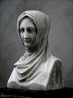 "Antonio Canova, ""Vestal Virgin,"" Marble Sculpture, 1820–1821."