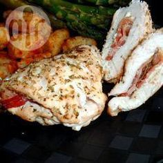 Feta and Pancetta Stuffed Chicken Breasts @ allrecipes.co.uk + add sun dried tomatoes.