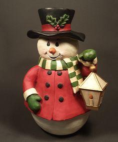 Another Great Find On Zulily Vintage Inspired Snowman Figurine Zulilyfinds