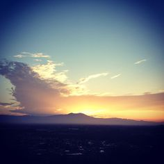 Beautiful sunrise over Saddleback Mountain in Orange County, California.