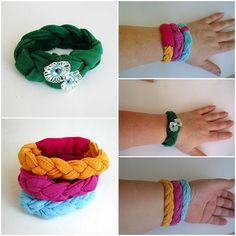 Halhal barcelets, barided gömlek takı, yumuşak bilezik kumaş takı çevre dostu takı - 4 Set