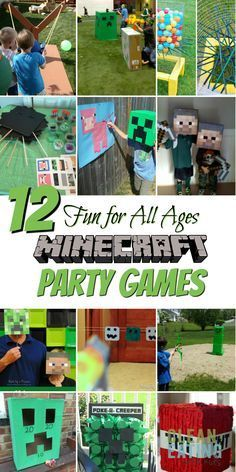 How to Host a (Cheap!) Minecraft Birthday Party (with Printables & Step by Step Party Planner) - Clean Eating with kids How to Host a (Cheap!) Minecraft Birthday Party (with Printables & Step by Step Party Planner) - Clean Eating with kids Minecraft Party Activities, Diy Minecraft Birthday Party, Minecraft Birthday Invitations, Minecraft Party Food, Minecraft Party Decorations, Birthday Activities, 9th Birthday Parties, Birthday Party Games, Mine Craft Birthday
