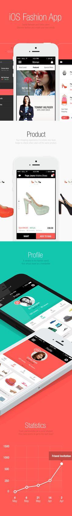 Fashion Network iOS App by André Oliveira, via Behance #app #design #ux #ui…