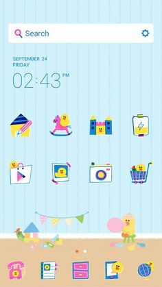 Feeling little, this line launcher theme helps me stay that way ^^°