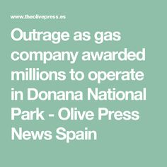 Outrage as gas company awarded millions to operate in Donana National Park - Olive Press News Spain