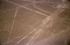 The largest geoglyph is a 935ft-long pelican.Most of the lines are formed by a shallow trench with a depth of between four inches (10cm) and six inches (15cm), made by removing the iron oxide-coated pebbles that cover the surface of the Nazca desert to expose the light-coloured earth beneath