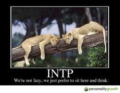 Image result for intp nope totally lazy, but my mind is working like crazy