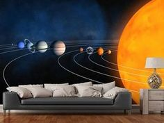 Sproud Custom Children Wallpaper,Complete Solar System,Cartoon Murals For Children'S Rooms Park Living Room Wall Waterproof Wallpaper * You can get more details by clicking on the image. (This is an affiliate link and I receive a commission for the sales) Sky Ceiling, Ceiling Design, Wall Design, Kids Wallpaper, Wall Wallpaper, Solar System Wallpaper, Wall Waterproofing, Cool Optical Illusions, Space Theme